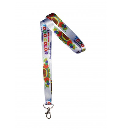 LANYARD TC WHITE 15 MM SUBLIMADA A TODO COLOR