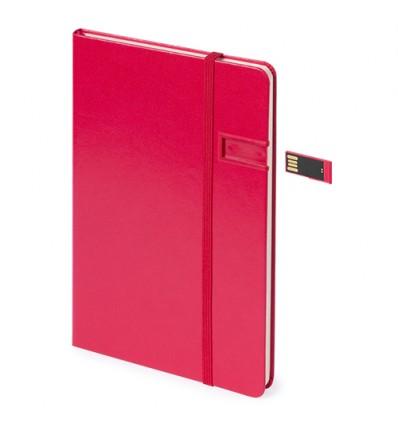 BLOC NOTAS USB JERSEL ROJO