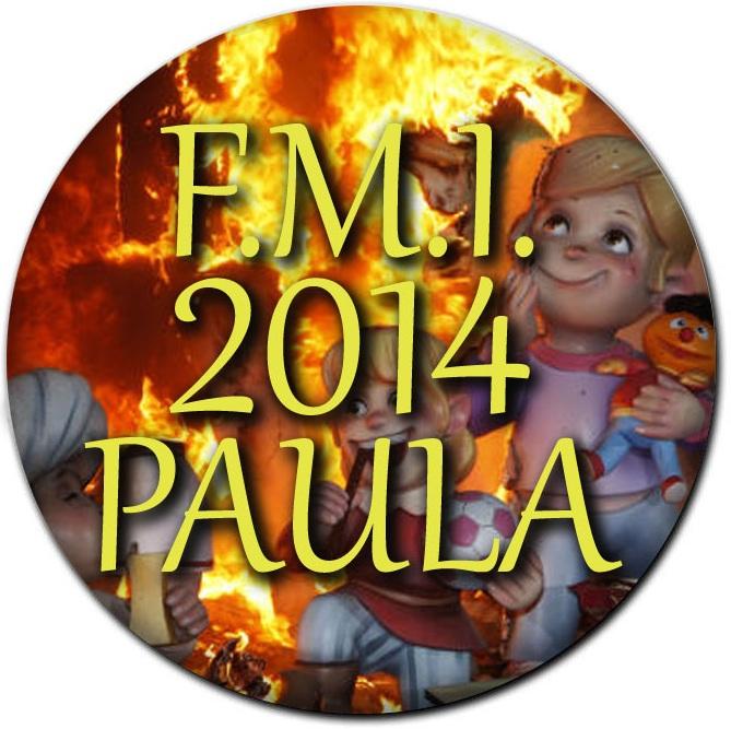 CHAPA FALLERA MAYOR INFANTIL 2014