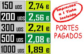 TABLA DE PRECIOS CAMISETA TIRANTES TEXAS